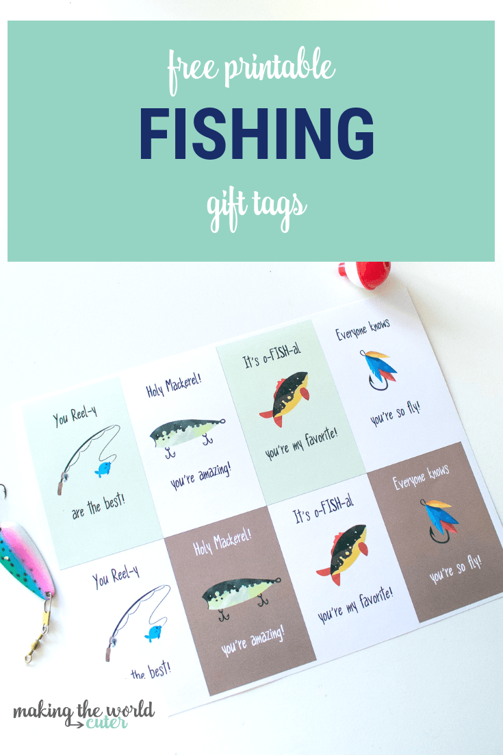 photo regarding Gift Tags Printable identified as Fishing Present Tags No cost Printable for Fathers Working day, Birthdays